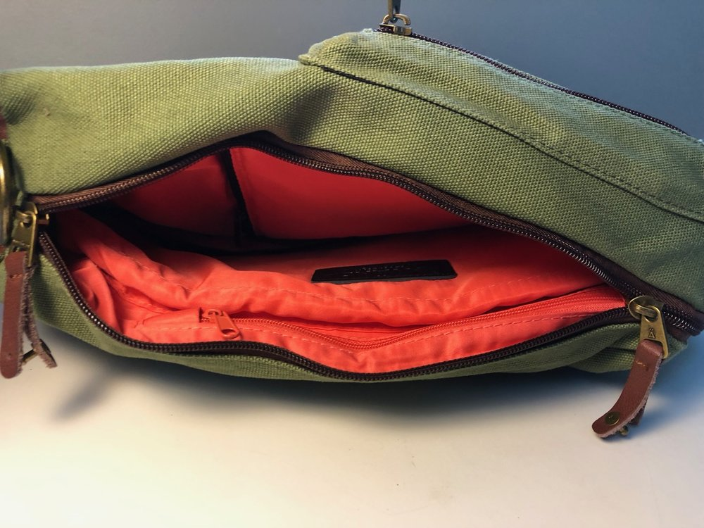 There's no access to the laptop sleeve in messenger bag mode, but there is another secret pocket!