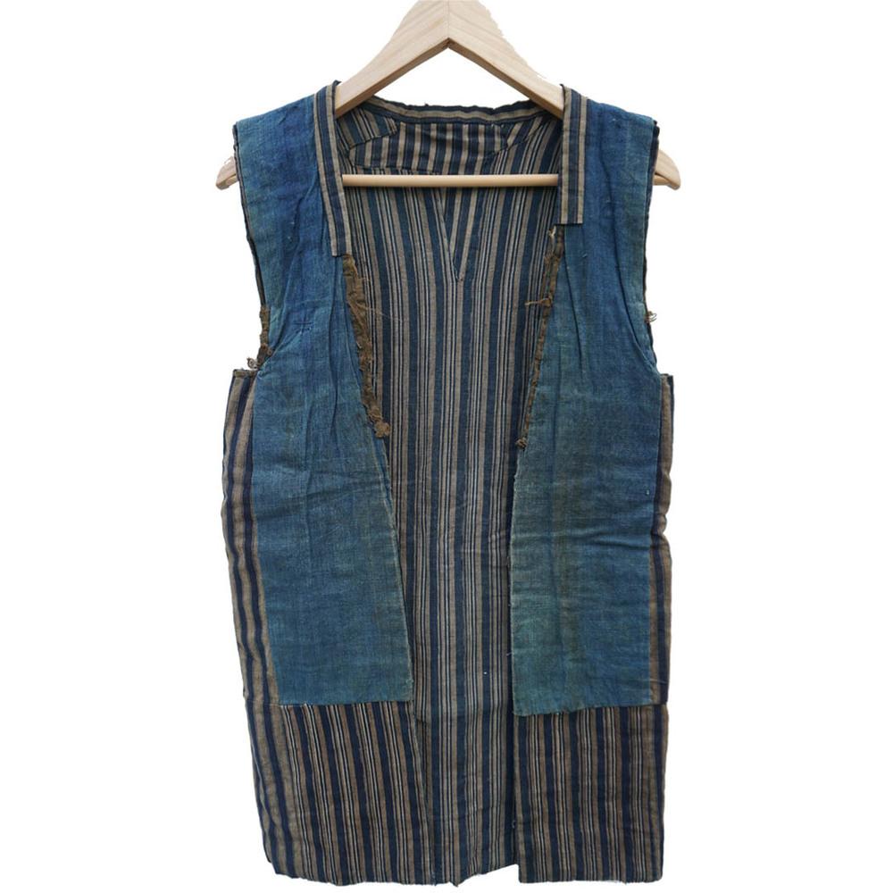 vintage denim and striped kimono missing sleeves Square.jpg