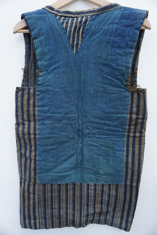 vintage original denim kimono no sleeves.JPG