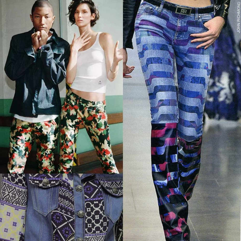 Clockwise top left: ©GStar, ©John Richmond, ©Desigual