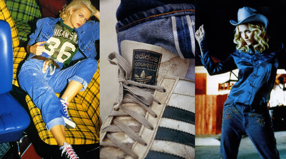 images l-r ©Le Fabuleux roman du jean, levis story (1990), ©Denim An American Story (2007) , ©Denim from cowboys to catwalks; a visual history of the worlds most legendary fabric (2002)