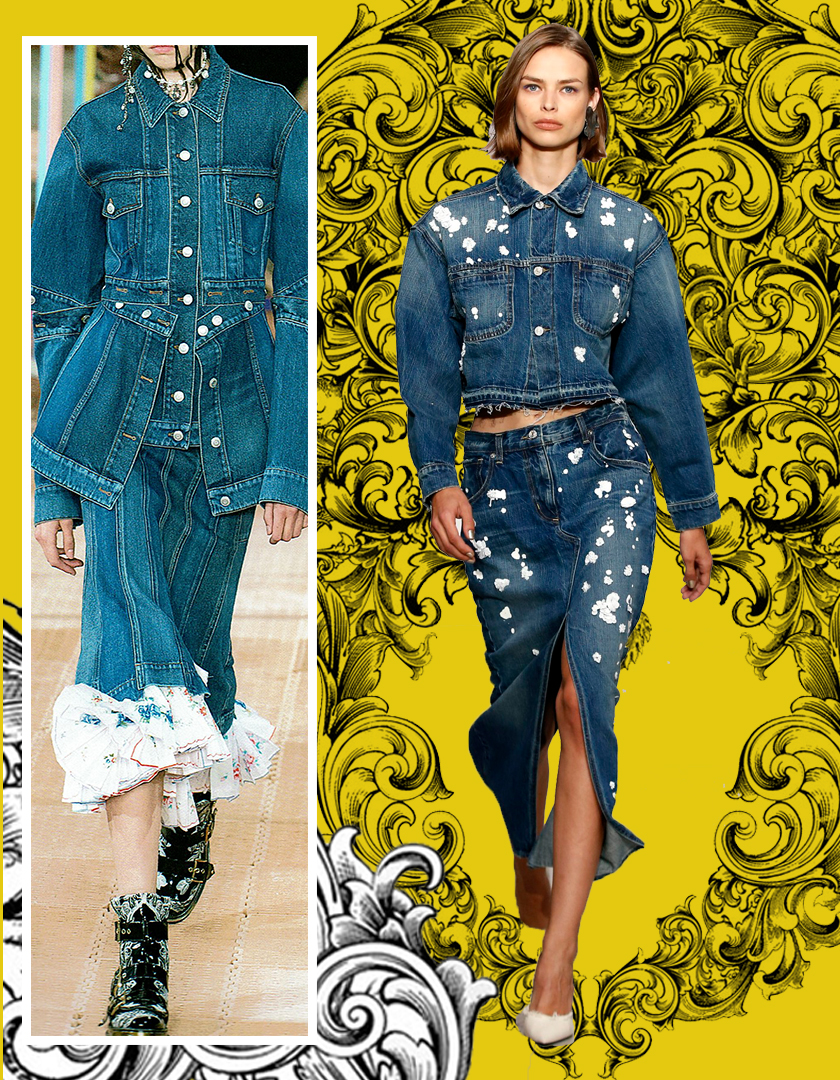 Designers: Left: Alexander McQueen | Right: Oscar De La Renta