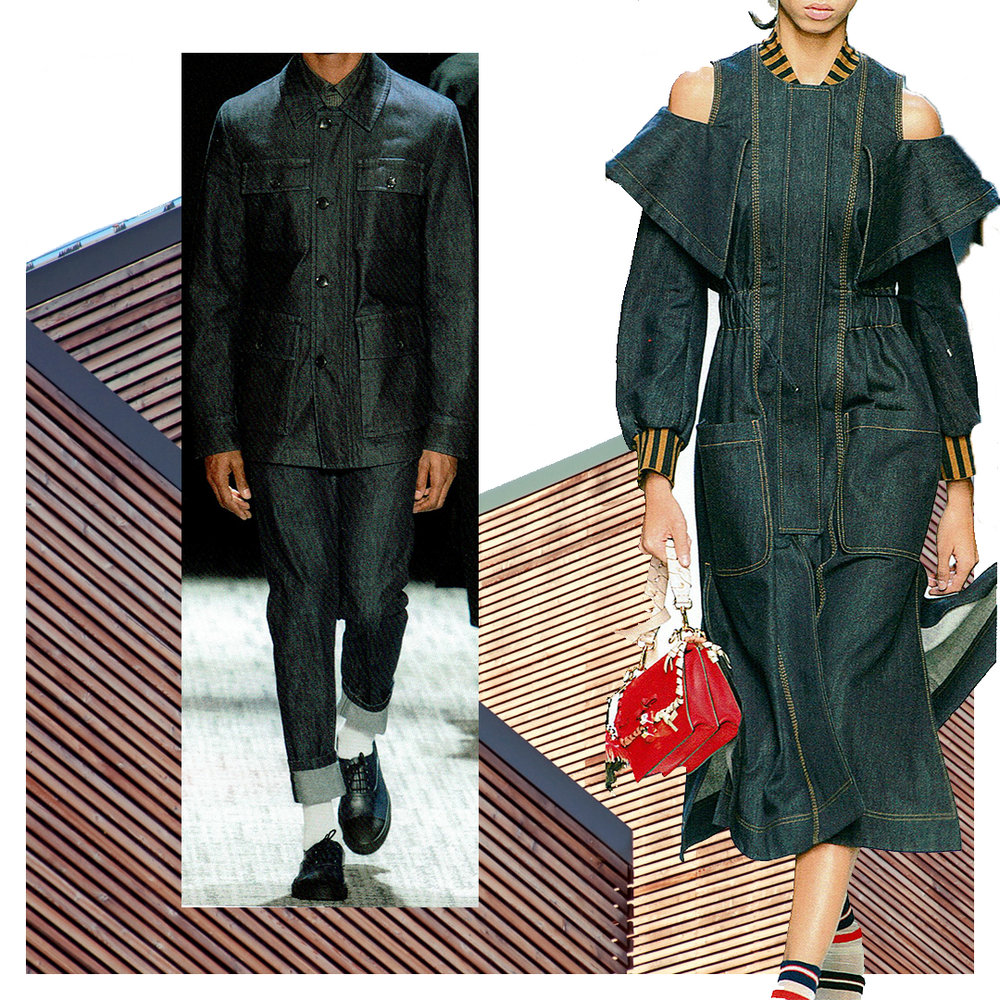 Designers: Left: Cerutti 1881 | Right: Fendi
