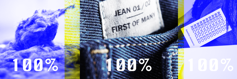 Recycled cotton fibres // Levi's X  Evrnu, Faustine Stienmetz Recycled Tag