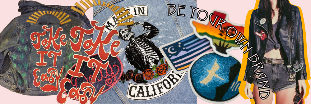 Live Wyld Designs //Levi's 'Made in California Denim Jacket' // Ft. Lonesome chain embroidery patches
