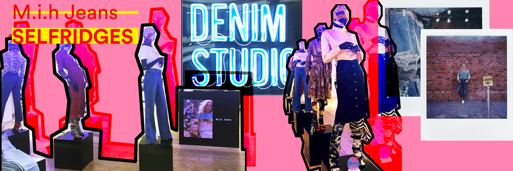 M.i.h Jeans Pop Up, Selfridges Denim Studio, London. Featuring collaboration with Bay Garnett.