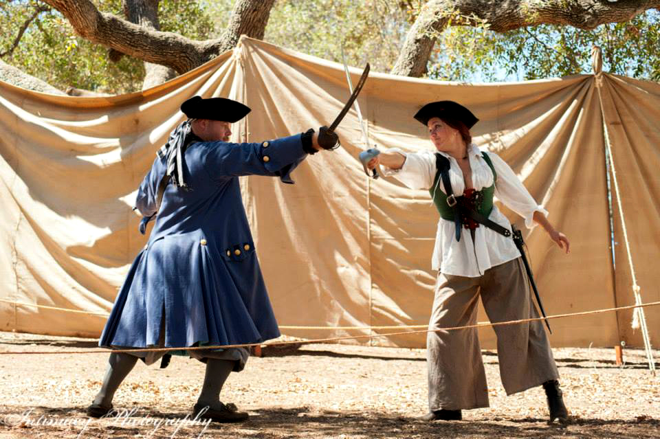 Sword fighting at the fall escondido renaissance faire + Pirates in the Park