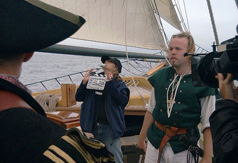 "On the set of ""Conquest: Pirate Weapons"" for the History Channel series (2003)"