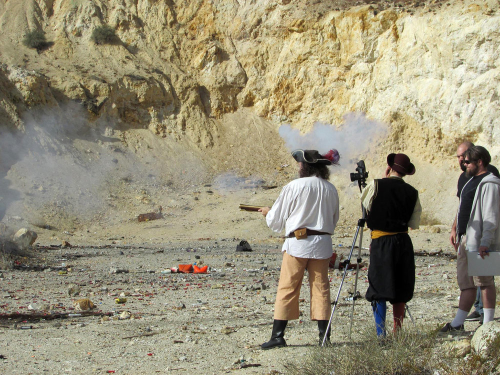 "Shooting for the History channel production ""Smoking Guns"" (2018)"