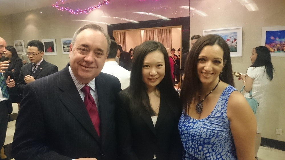 Me, Jing Zhang (president of Chinese Students and Scholars Association) and Tasmina Ahmed-Sheikh MP.