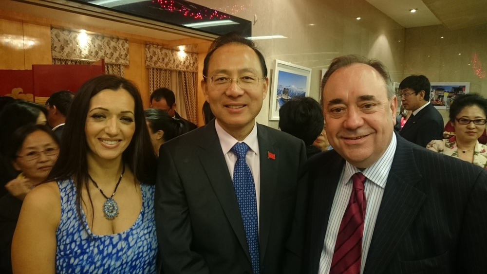Tasmina Ahmed-Sheikh MP, Consul General Pan Xinchun and me.