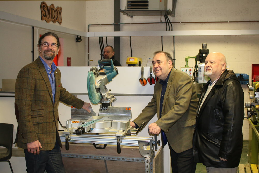 Jason Schroeder, Alex Salmond MP and Archie Peebles