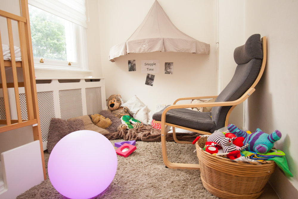 Our Baby Nest  - Because your baby has come from a very small and warm space in your body,  the rooms in our baby nest are small, quiet and cosy.
