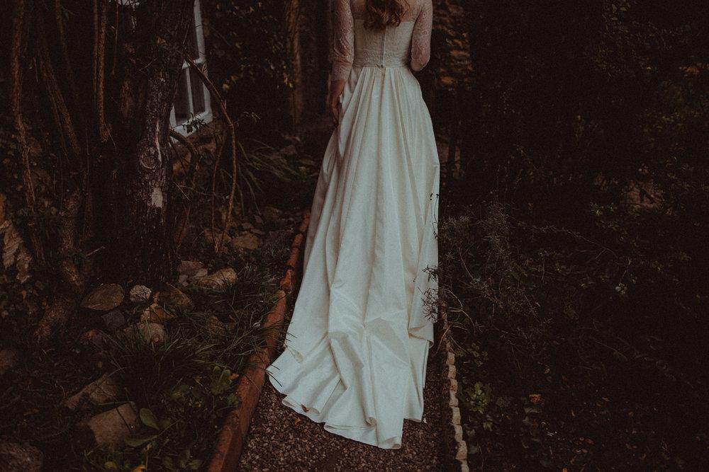 bohemian wedding dress photo