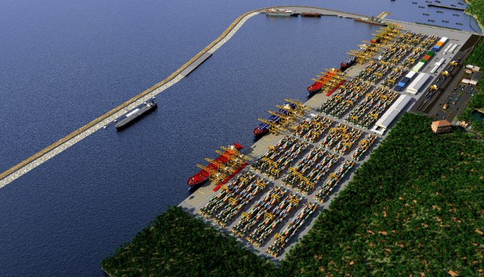 Planned Adani port south of Vizhinjam Harbour area