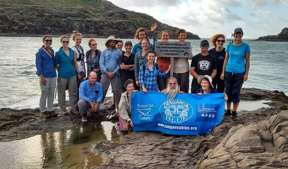Representing Positive Change for Marine Life with Tangaroa Blue at Cape York in June.