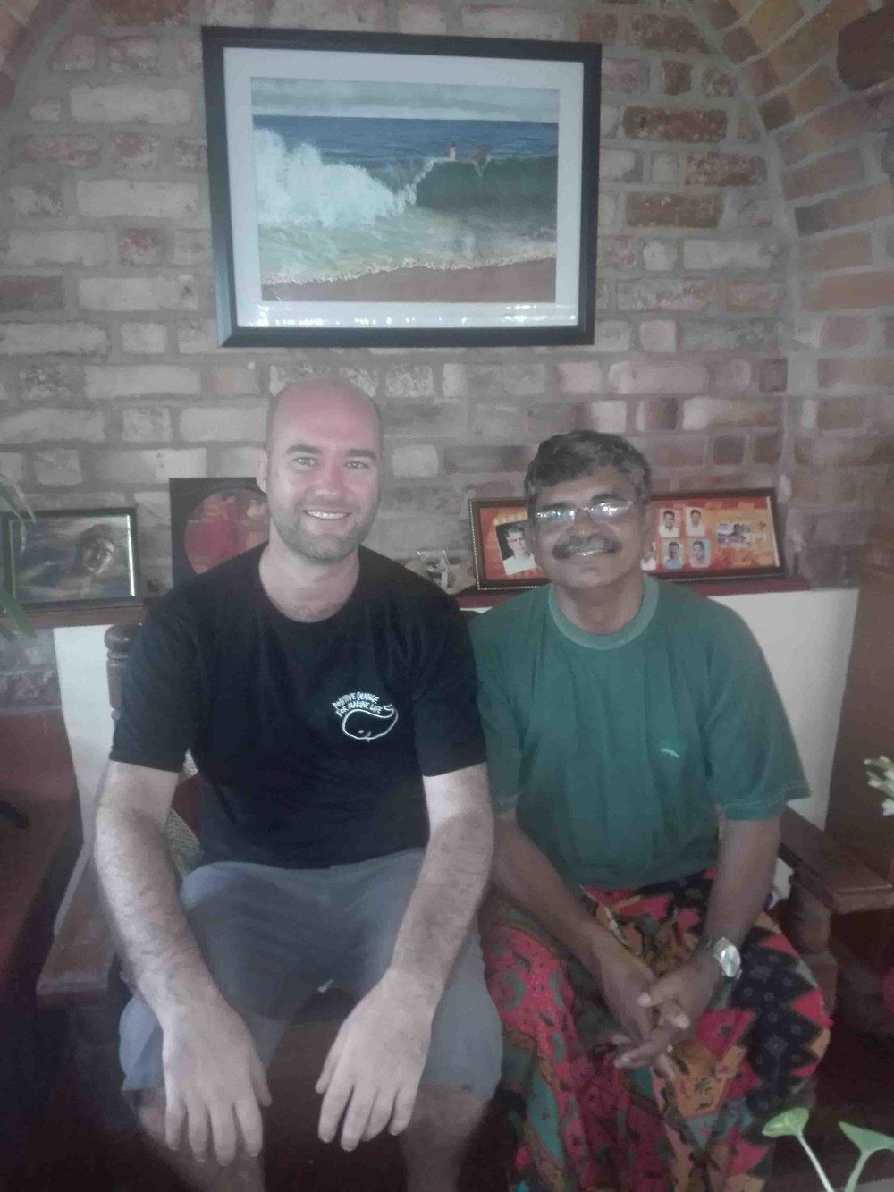 Blake meeting with the head of Clean Kerala.
