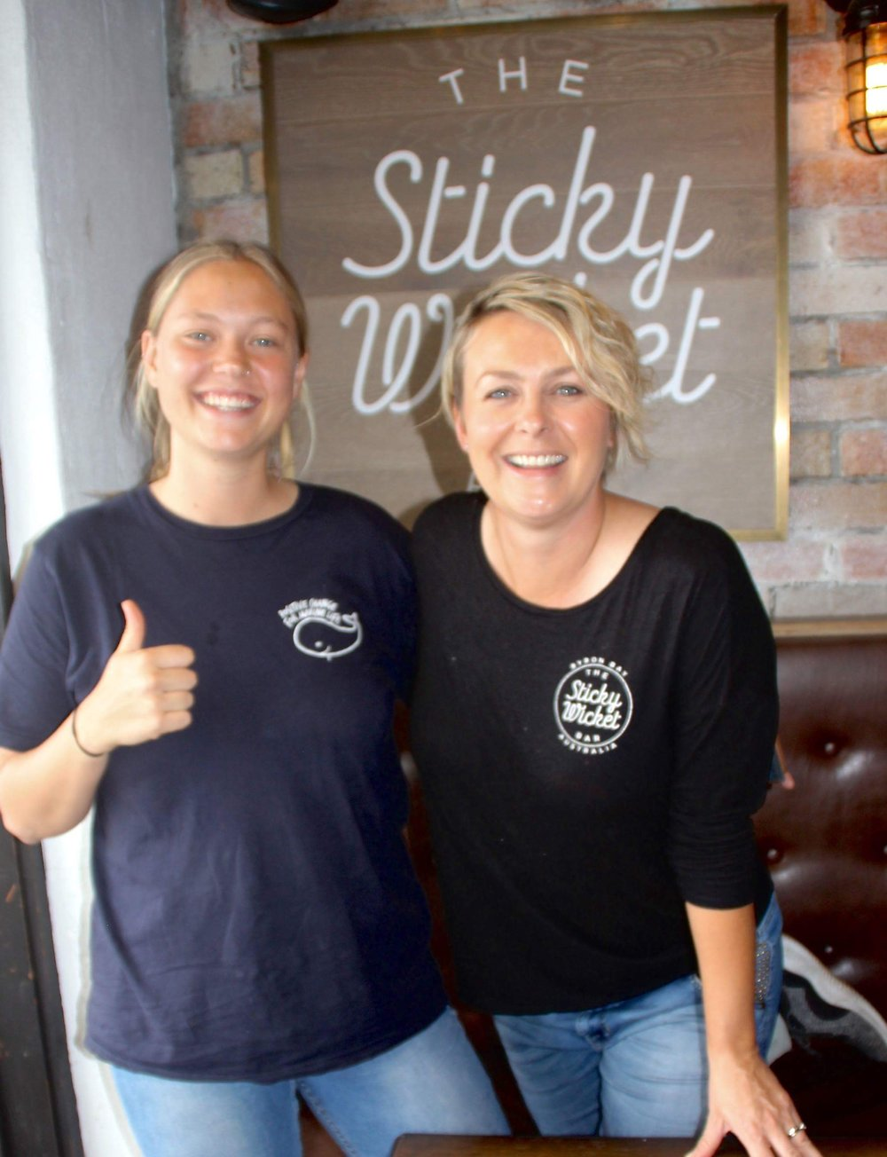 Our  Don't Be A Sucker  Co-ordinator Emily Allen congratulating local bar and restaurant  Sticky Wicket  as our newest single-use plastic free business!