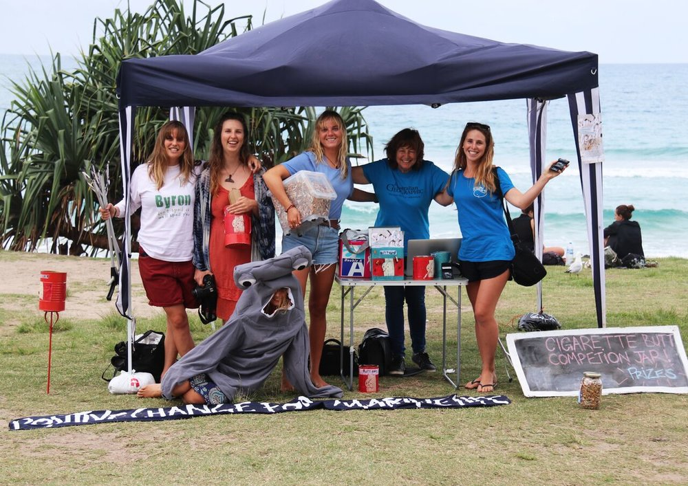 Our  Activ8 for the Ocean  team raising awareness in Byron Bay.