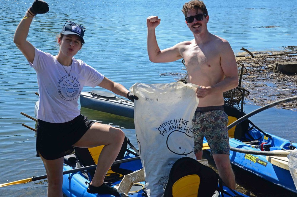 Two of our River Warriors Payton and Lewis, after a big haul on Tallebudgera Creek.