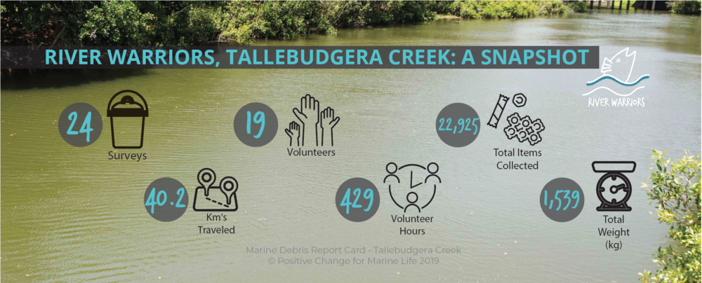 A snapshot of our findings, including surveys, km travelled, volunteer hours and totals.