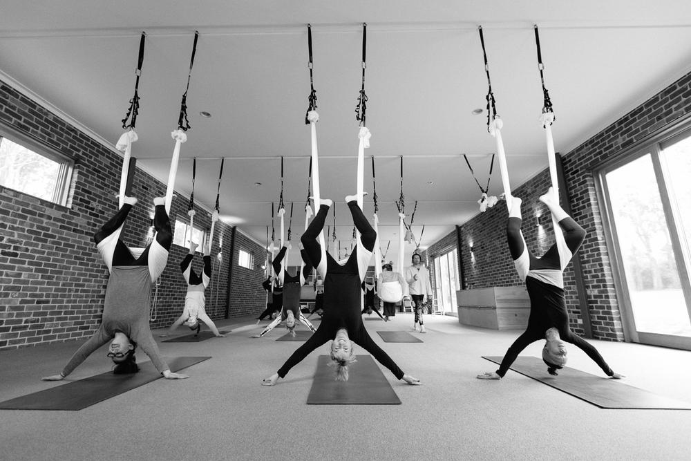 Anti-gravity Yoga at Silver Leaf Yoga School, Merricks VIC