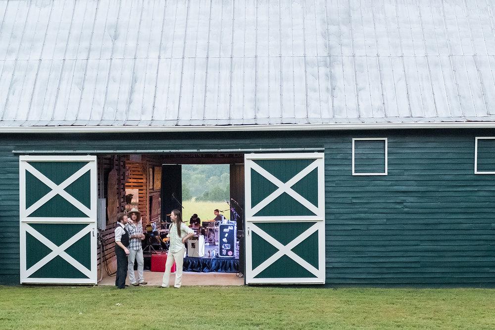 big green barn