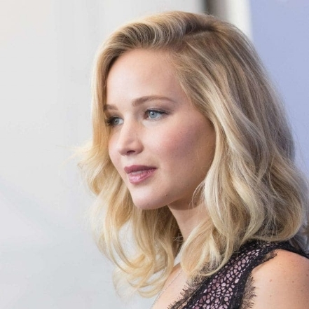 Jennifer Lawrence with her Cream Soda Hair Color