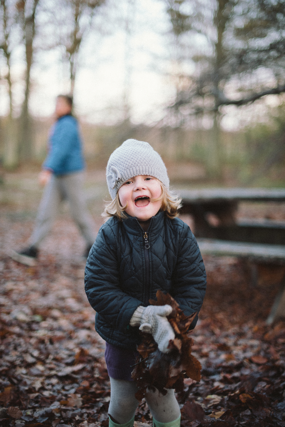 Family Portraits, Winter Forest Shoot, Denmark.