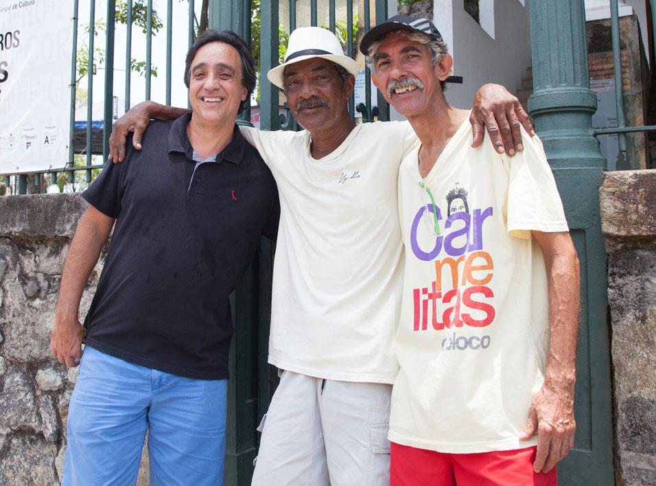 Sergio, Guará e Wilsinho. | Foto: André Teixeira