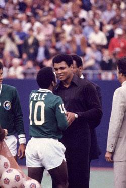 Pelé e Muhammad Ali.