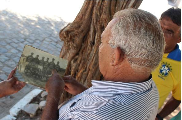 O craque veterano Luís de Biino, primeiro patrocinador do time paraibano