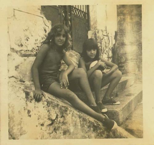 Sergio e o irmão Bruno na Ladeira do Meireles, em Santa Teresa