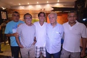 Betinho Carqueija, Tião Búfalo, o saudoso Zeca Diabo, Evaristo de Macedo e Marinho Picorelli (Foto: Guilherme Careca)
