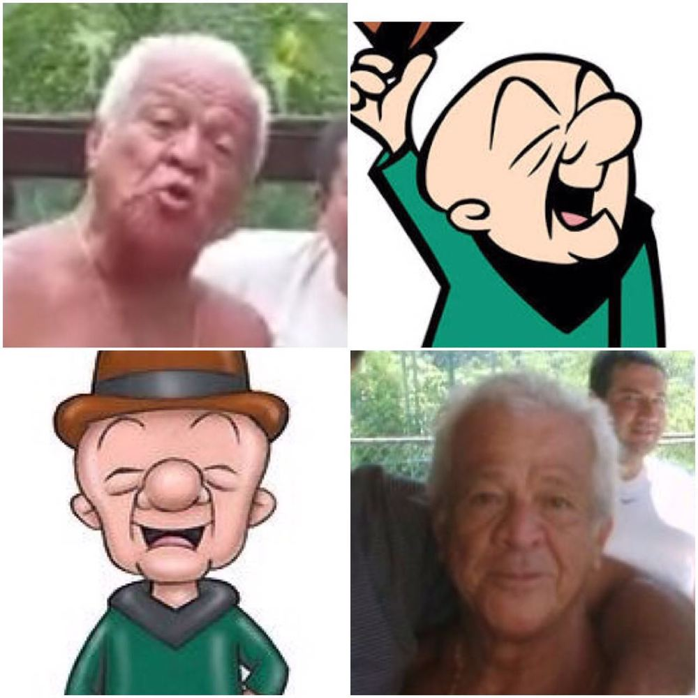 Viquinho e o personagem Mr. Magoo