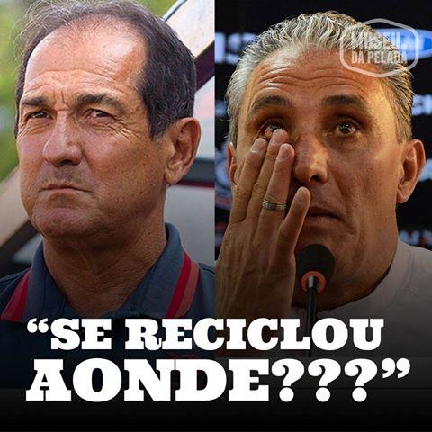 """Popular entre os boleiros, a frase """"Jogou aonde?"""" ganha uma nova versão de PC Caju após os fiascos de Tite no   Corinthians e Muricy no Flamengo."""