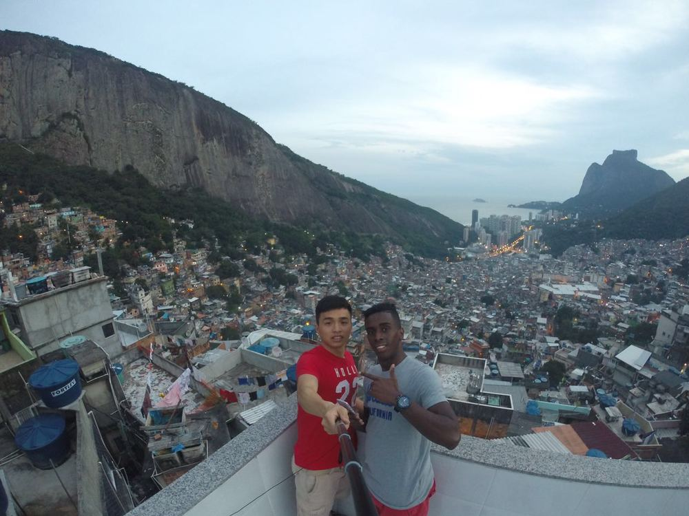Nonato curte a vista da Rocinha