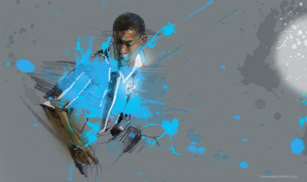 A pintura de Ronaldinho Gaúcho estará na exposição de Al celebrando o Grenal