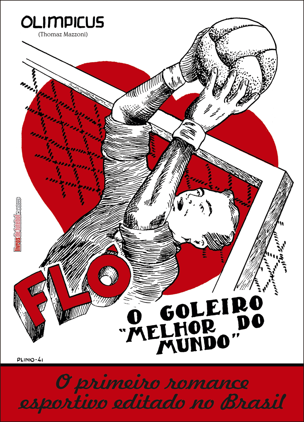Capa do primeiro romance esportivo do Brasil