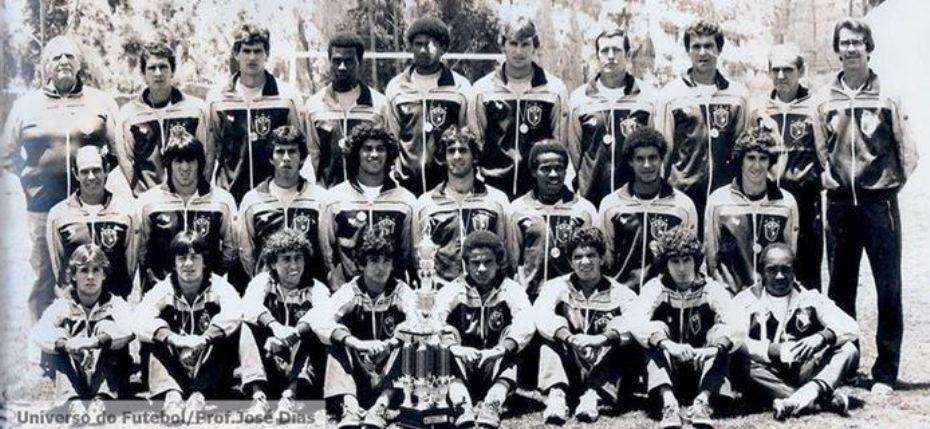 Grupo campeão sul-americano sub-20 de 1983, na Bolívia