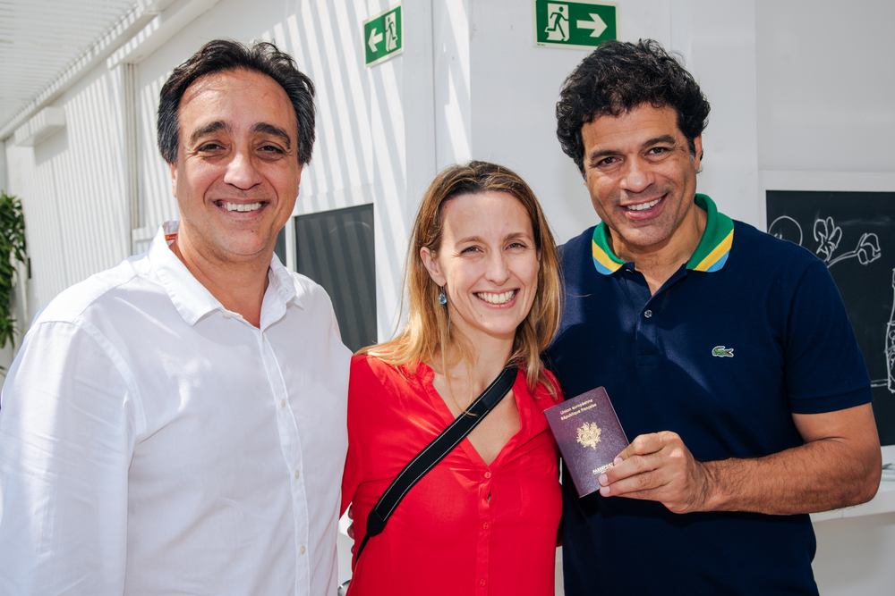 Sergio Pugliese, Julie Godefroy e Raí