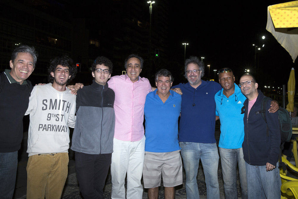 Washington Araújo, André Mendonça, Daniel Planel, Sergio Pugliese, Carlos Roberto, Fábio Menezes, Pintinho e Marcelo Tabach