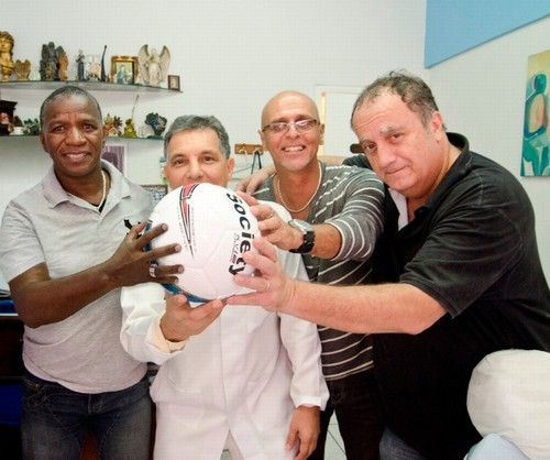 Adílio, Lulinha, Julio Cesar e Guillermo Planel.