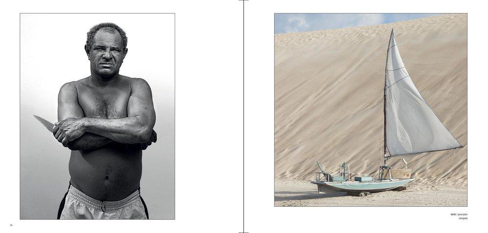 Registro de Ariri, o pescador de Caiçara do Norte, e o barco, objeto essencial em sua vida