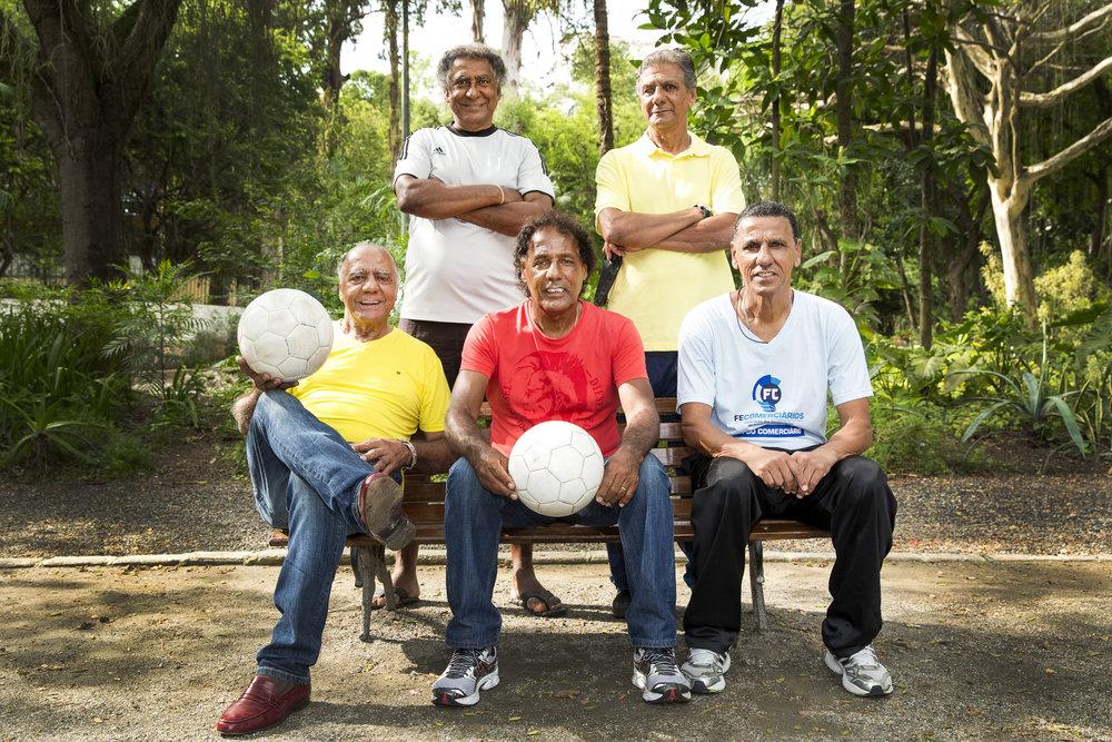 Em pé: Paulinho e Marcos Neném Sentados: César Maluco, Luisinho Lemos e Caio Cambalhota
