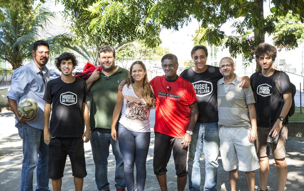 Reyes, André, Sandro, Raísa, Silva, Sergio, Marcelo e Daniel