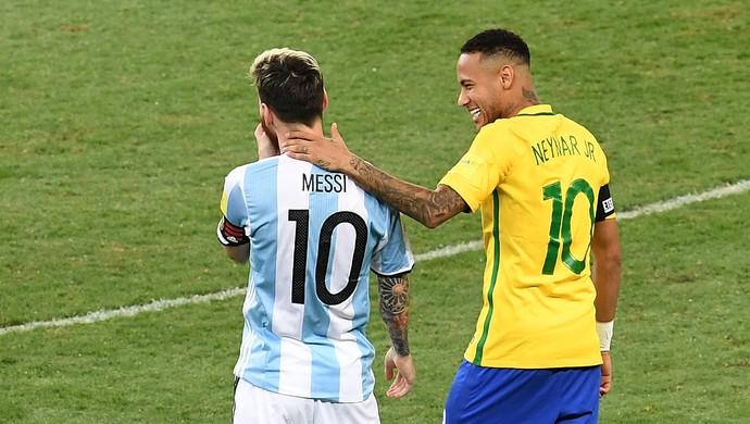 Neymar venceu o duelo contra Messi pelas Eliminatórias