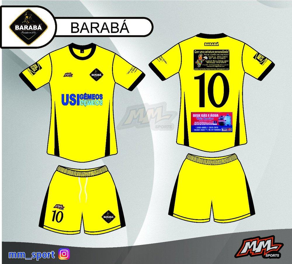Novo uniforme do Barabá estampa logo do Museu da Pelada