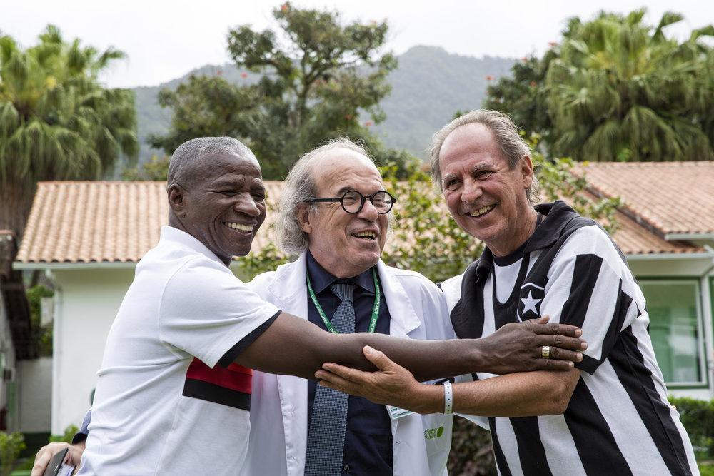 Adílio, Dr. Jaber e Mendonça