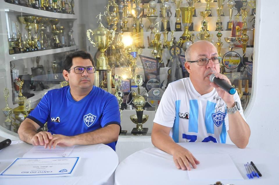 Presidente Rodney Melo e vice de esportes Alexandre Sampaio